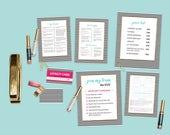 LipSense Marketing Material Set - Stripes Pattern  (7 items)