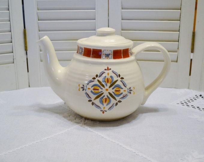 Vintage Treasure Craft Sienna Teapot Display Only Rustic Tile Design Panchosporch