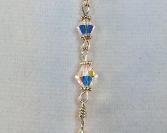Swarovski Snowflake, Snowflake Necklace, Crystal Snowflake, Winter Wedding, Necklace Dangle, Wintertime Jewelry,