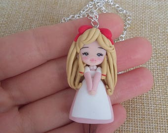 Jeanie anime manga necklace necklace polymer clay