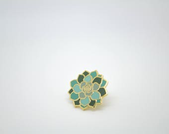 Mini Succulent Enamel Pin, comes with mini canvas jewelry bag