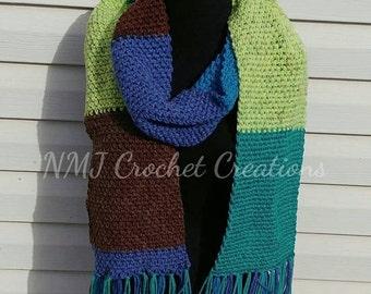 Scarf, Blanket scarf, crochet scarf, oversized scarf, oversized scarf, large scarf,