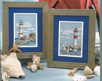 CROSS STITCH PATTERN - Lighthouse & Sail Boats Counted Cross Stitch Pattern - Ocean Cross Stitch Chart