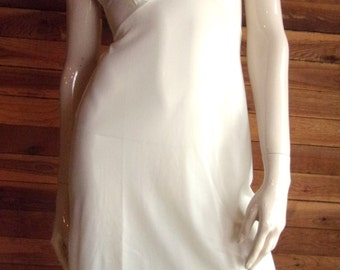 Vintage Lingerie ARTIST MODEL Ivory Junior Size 7 Full Slip