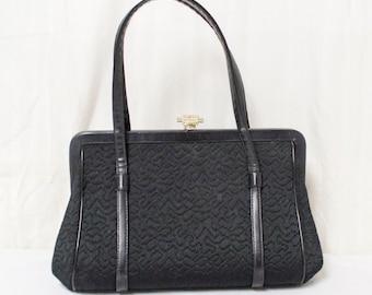 L&M, Vintage Purse,bag,Black Handbag