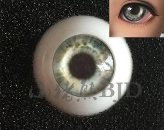 realistic dreamy BJD doll eyes 10mm 12mm 14mm 16mm 18mm dark black white silver grey gray galaxy cloud
