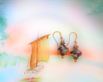 Amethyst earrings, boho chic earrings, victorian earrings, gift for her, girlfriend gift, lavender earrings, summer trends