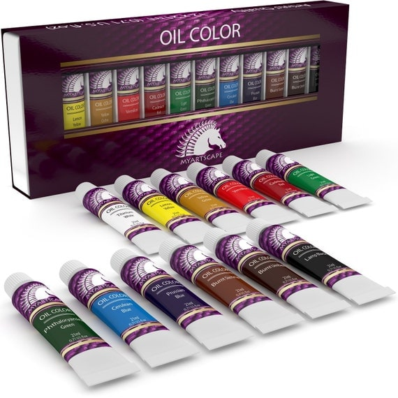 12x21ml oil paint set artist quality paints for painting for Professional painting supplies