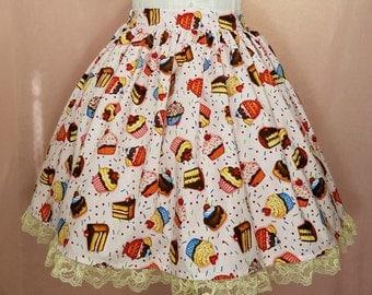 Pink Cupcake, Sunday and Cake Lolita Skirt