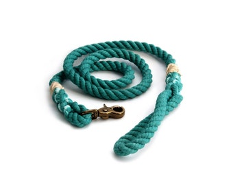 4 FT Teal Rope Dog Leash