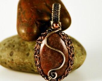 Wire Woven Agate Pendant