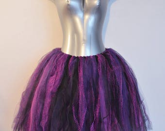 Purple and Black Rock-star Fairy Skirt