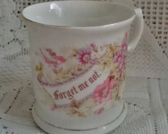 "Vintage Forget Me Not Flowered Mug  with Gold Rim - ""Forget Me Not"""