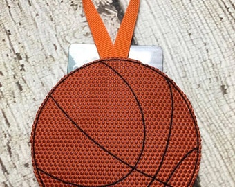 Basketball - Gift Card Holder  - Ornament -  In The Hoop - DIGITAL Embroidery DESIGN