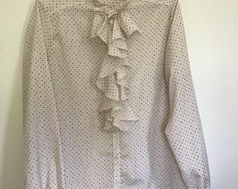 Polka Dot Ruffle Shirt