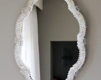 Large wall mirror from Murano Venetian glass circa 1950s.
