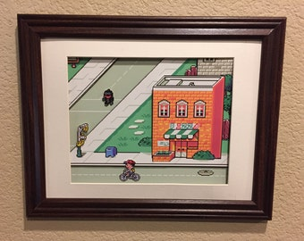 Earthbound Diorama / Shadowbox (framed artwork) SNES