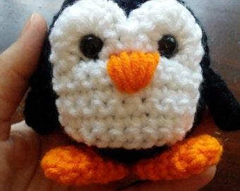 Handmade Penguin Stuffy, Crochet Animal, Amigurumi Penguin,Stuffed Bird, Stuffed Animal