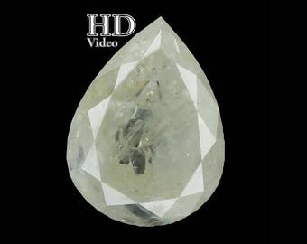 1.41 Ct Natural Loose Diamond Cut Pear White Grey Color 7.90X5.90X3.70 MM L7641