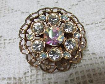 Vintage 50's rhinestone brooch estate find