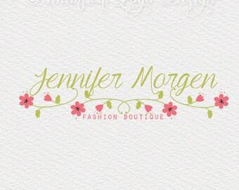 Premade Logo Design  Watermark Design    - Boutique  Logo - Hand drawn  wedding  logo Floral Logo Design - Small Business Logo 102