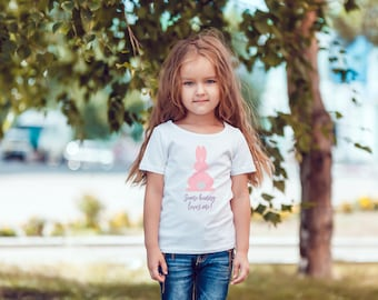 Some Bunny Loves Me! Glitter Easter shirt. Toddler t-shirt.