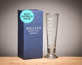 Groomsmen Gift, Groomsman Gift, Wedding Gift, Personalised Beer Glasses, Gifts for Groomsmen, Gifts for him. PG1