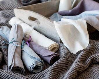 Linen NAPKINS, Dinner napkins, Large stonewashed linen napkins, Set of 4, 6, 8 and 12 linen napkins, Rustic table linen, Lightweight napkins