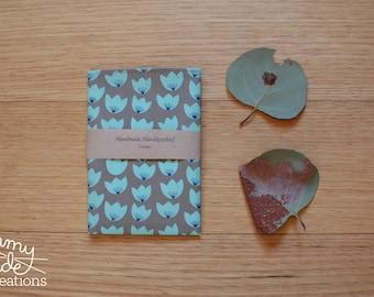 Organic Cotton Leaf Handkerchief / Womans Handkerchief / Waste Free / Eco Friendly / Mothers Day