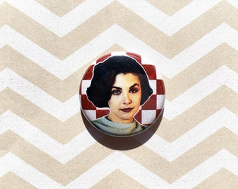 Audrey Horne Twin Peaks- one inch pinback button magnet
