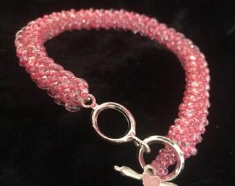 Herringbone Variation Woven Glass Bead Bracelet