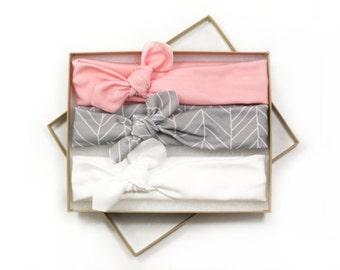 Baby Turban Headbands / Knotted Baby Headbands / Baby Girl Head Wraps / Baby Headwrap Headbands for Baby Girls / Baby Bow Headbands