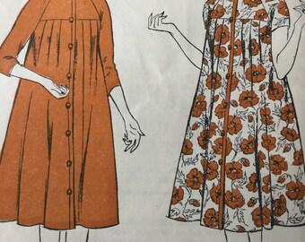 Maternity dress pattern, Women's realm, vintage sewing pattern, 50s maternity dress, size bust 34 ins, factory folded