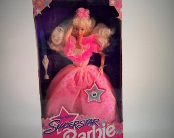 Vintage 1993 Barbie SuperStar, Still In Original Box