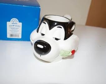 Pepe Le Pew Looney Tunes Cup Mug with Tag 1993 Applause Warner Bros.