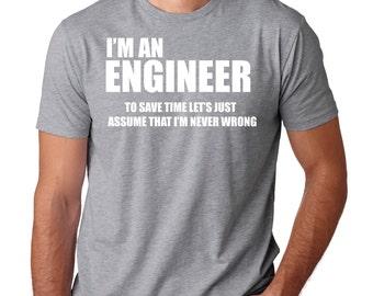 Engineer T-Shirt Funny Occupation Tee Shirt Gift For Engineer Shirt