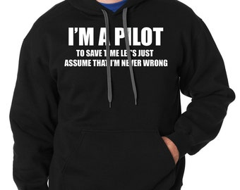 Pilot Hoodie Gift For Pilot Funny Occupation Hooded Sweatshirt