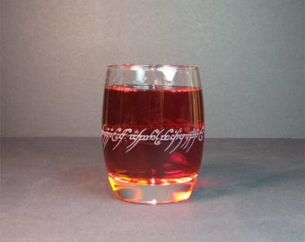 ring inscription 12.5oz glass
