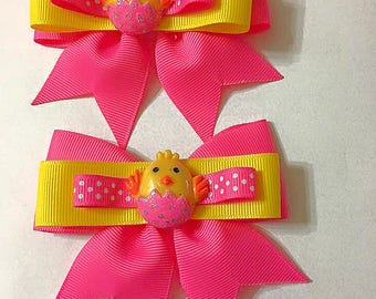 Beautiful Easter hair clips.