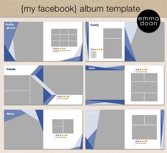 Photobook Album Template 12x12 Photobook Template Digital – Template for Photo Album