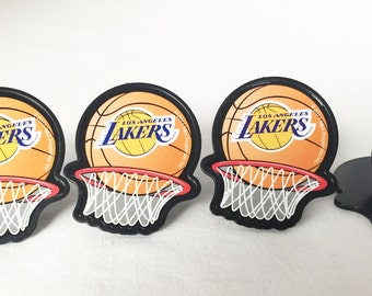 12 Los Angeles Lakers Cupcake Rings NBA Basketball Toppers Party Favors
