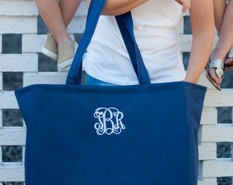 Ultimate Tote Bag, Navy Tote,  The Ultimate Collection, Monogrammed