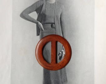 Vintage Orange Sash Buckle-Millinery Supplies-Sewing Supplies-Beautiful Swirly Orange Vintage Plastic Buckle