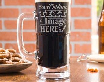 Beer Mug, Personalized Gift, Custom Beer Mug, Beer Gift, Etched Beer, Pilsner Gift, Men Anniversary Gift, Monogram Beer Glass, Gift For Men