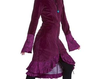 Purple velvet coat   Etsy