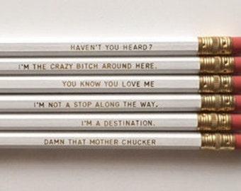 NEW - Blair Waldorf, Gossip Girl, Set of 6 Pencils
