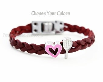 Ladies' / Girls' Tennis Bracelet jewelry, tennis player bracelet, customized tennis mom bracelet, tennis gift, tennis girl, sports jewelry