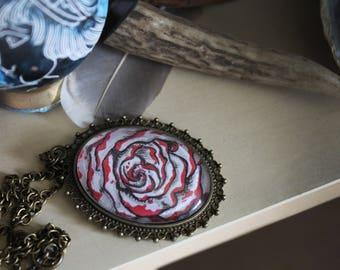 Aphrodite's Rose Pendant Necklace: Greek Goddess Love, Greek Mythology, Greek Jewelry, Blood Rose Pendant, Hellenism, Snow White Rose Red