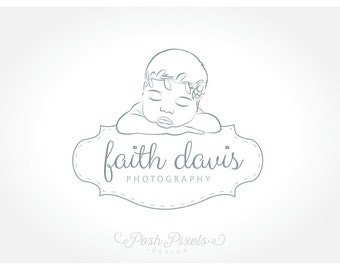 Logo Design (Premade) Newborn Photography, Baby Logo, Photography logo, Infant logo
