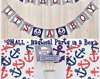 Nautical Baby Shower Party in a Box (SMALL) - Nautical Party Package - Nautical Party Kit